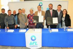 Firma de contrato UTL campus Acámbaro-PRESIDENCIA