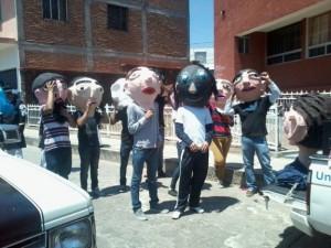 Mojigangando en Tarandacuao Guanajuato