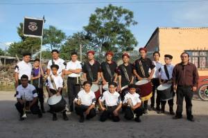 Participación de la UAS en desfile de Parácuaro